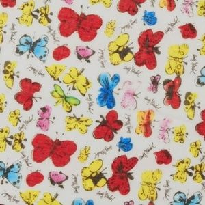 Andy Warhol x UNIQLO butterfly art stole scarf